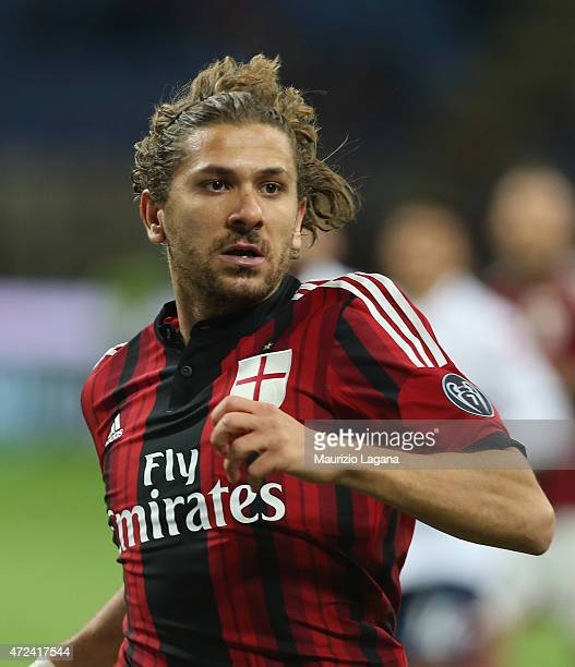 Alessio Cerci of Milan during the Serie A match between AC Milan and Genoa CFC at Stadio Giuseppe Meazza on April 29 2015 in Milan Italy