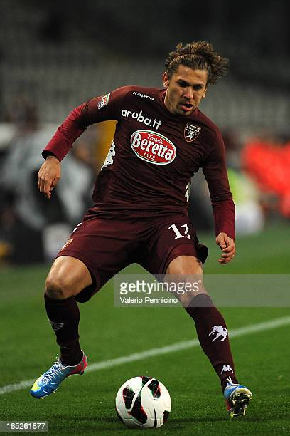 Alessio Cerci of Torino FC in action during the Serie A match between Torino FC and SSC Napoli at Stadio Olimpico di Torino on March 30 2013 in Turin...