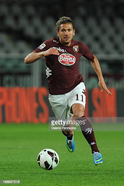 Alessio Cerci of Torino FC in action during the Serie A match between Torino FC and Genoa CFC at Stadio Olimpico di Torino on May 8 2013 in Turin...