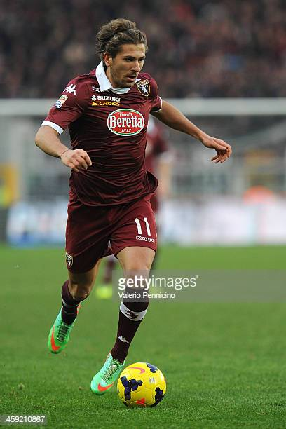 Alessio Cerci of Torino FC in action during the Serie A match between Torino FC and AC Chievo Verona at Stadio Olimpico di Torino on December 22 2013...