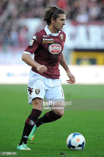 Alessio Cerci of Torino FC in action during the Serie A match between Torino FC and UC Sampdoria at Stadio Olimpico di Torino on March 2 2014 in...