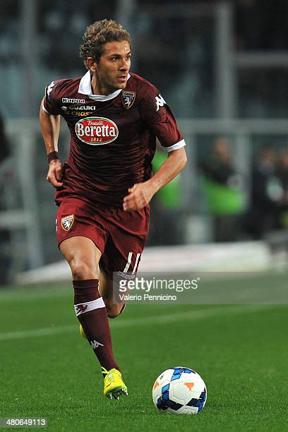 Alessio Cerci of Torino FC in action during the Serie A match between Torino FC and AS Livorno Calcio at Stadio Olimpico di Torino on March 22 2014...