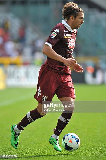 Alessio Cerci of Torino FC in action during the Serie A match between Torino FC and Cagliari Calcio at Stadio Olimpico di Torino on March 30 2014 in...