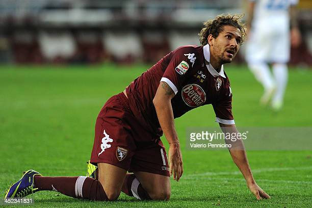 Alessio Cerci of Torino FC looks on during the Serie A match between Torino FC and Calcio Catania at Stadio Olimpico di Torino on November 24 2013 in...