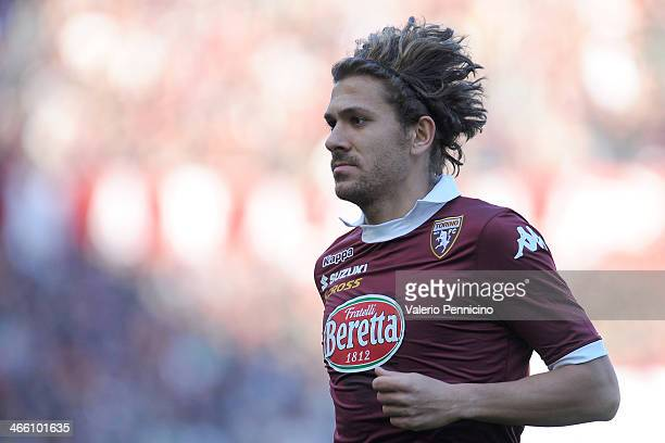 Alessio Cerci of Torino FC looks on during the Serie A match between Torino FC and Atalanta BC at Stadio Olimpico di Torino on January 26 2014 in...