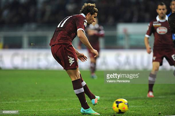 Alessio Cerci of Torino FC scores a goal during the Serie A match between Torino FC and AC Chievo Verona at Stadio Olimpico di Torino on December 22...