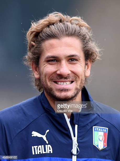 Alessio Cerci prior to the Italy Training Session at Coverciano on November 12 2014 in Florence Italy