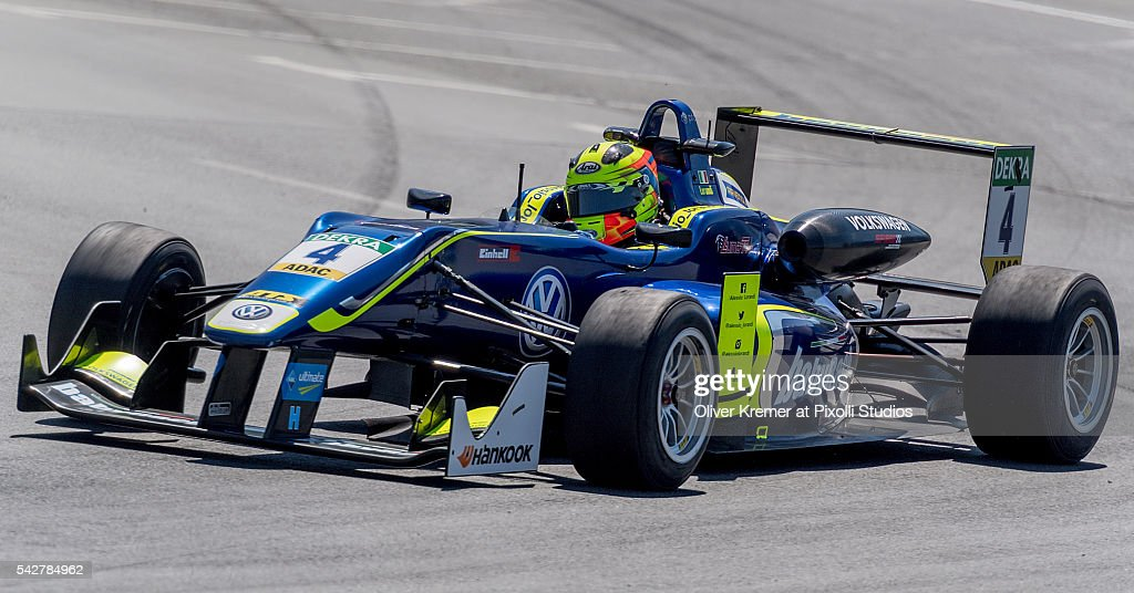 Alessio Lorandi (ITA) of FIA Formula 3 Team Carlin during a free practice session in preparation for the upcoming 2016 FIA Formula 3 European Championships at the Norisring during Day 1 of the German Touring Car Championship 2016 - Session 4 on June 24, 2016 in Nuremberg, Germany.