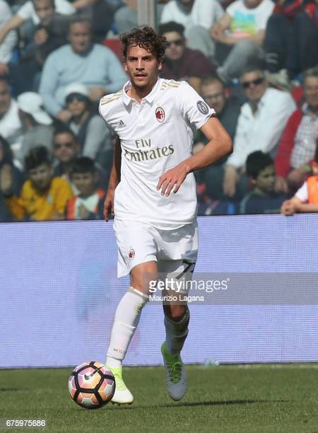 Alessio Romagnoli of Milan during the Serie A match between FC Crotone and AC Milan at Stadio Comunale Ezio Scida on April 30 2017 in Crotone Italy