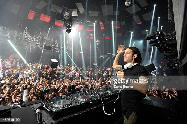 Alesso performs at the Light Nightclub at the Mandalay Bay Resort and Casino on January 31 2015 in Las Vegas Nevada