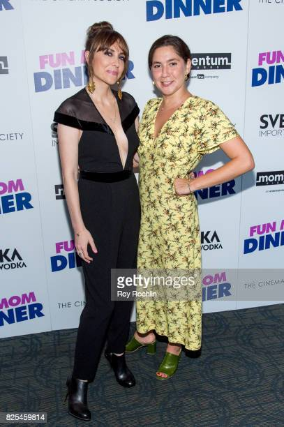 Alethea Jones and Olivia Milch attend the screening of 'Fun Mom Dinner' at Landmark Sunshine Cinema on August 1 2017 in New York City