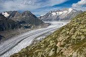 Aletsch Glacier, Southern Bernese Alps, Canton of Valais, Switzerland