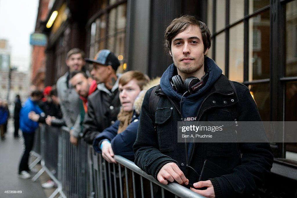 Alex, 19, a gamer who has queued in Covent Garden ahead of the launch of the Playstation 4 since 10am today, on November 28, 2013 in London, England.
