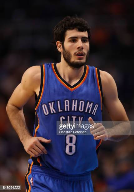 Alex Abrines of the Oklahoma City Thunder during the second half of the NBA game against the Phoenix Suns at Talking Stick Resort Arena on March 3...