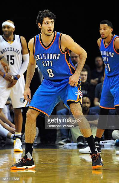 Alex Abrines of the Oklahoma City Thunder plays against the Memphis Grizzlies at FedExForum on December 29 2016 in Memphis Tennessee