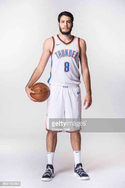Alex Abrines of the Oklahoma City Thunder poses for a photo during media day at Chesapeake Energy Arena on September 25 2017 in Oklahoma City...