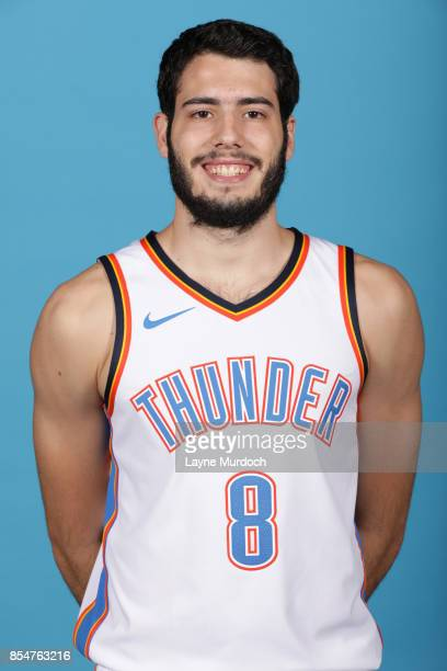 Alex Abrines of the Oklahoma City Thunder poses for a portrait during 2017 NBA Media Day on September 25 2017 at the Chesapeake Energy Arena in...