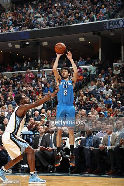 Alex Abrines of the Oklahoma City Thunder shoots the ball against the Memphis Grizzlies on December 29 2016 in Memphis Tennessee NOTE TO USER User...
