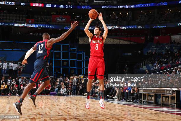 Alex Abrines of the USA Team shoots the ball during the BBVA Compass Rising Stars Challenge as part of 2017 AllStar Weekend at the Smoothie King...