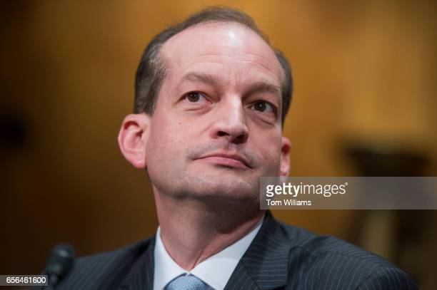Alex Acosta nominee for Secretary of Labor testifies during his Senate Committee on Health Education Labor and Pensions confirmation hearing in...