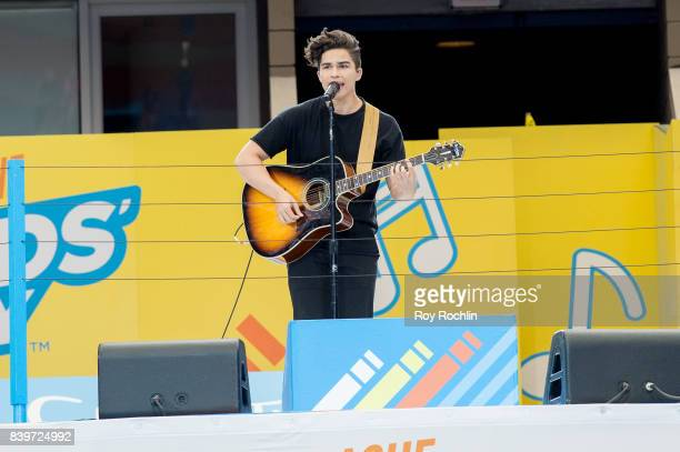 Alex Aiono during performs on stage during the 22nd Annual Arthur Ashe Kids' Day at USTA Billie Jean King National Tennis Center on August 26 2017 in...