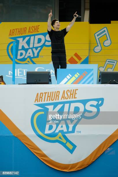 Alex Aiono performs at the 22nd Annual Arthur Ashe Kid's Day event at the USTA Billie Jean King National Tennis Center on August 26 2017 in the...