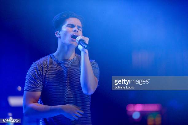 Alex Aionor performs on stage during 'The DeTour' at The Fillmore Miami Beach on August 4 2017 in Miami Beach Florida
