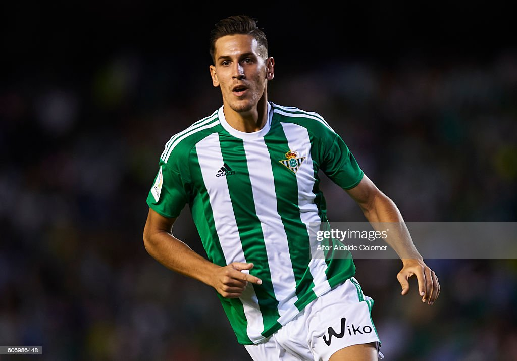 Alex Alegria of Real Betis Balompie in action during the match between Real Betis Balompie vs Granada CF as part of La Liga at Benito Villamarin stadium on September 16, 2016 in Seville, Spain.