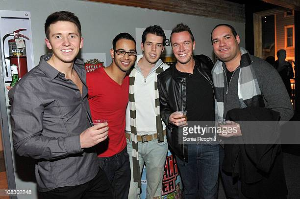 Alex Allen Ryan Rojas Wade Stanbridge Brian Gordon and JT Thorpe attend Queer Lounge Hosts 8th Annual 'Homos Away From Home Party' on January 24 2011...