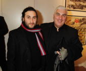 Alex and Mitch Winehouse attend the opening of the Morton Metropolis Gallery on February 10 2010 in London England