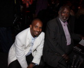 Alex Avant and Clarence Avant attend the Pre Party hosted by Debra Lee in celebration of the BET Awards 2009 at the Drago Centro at the Jewel Box on...