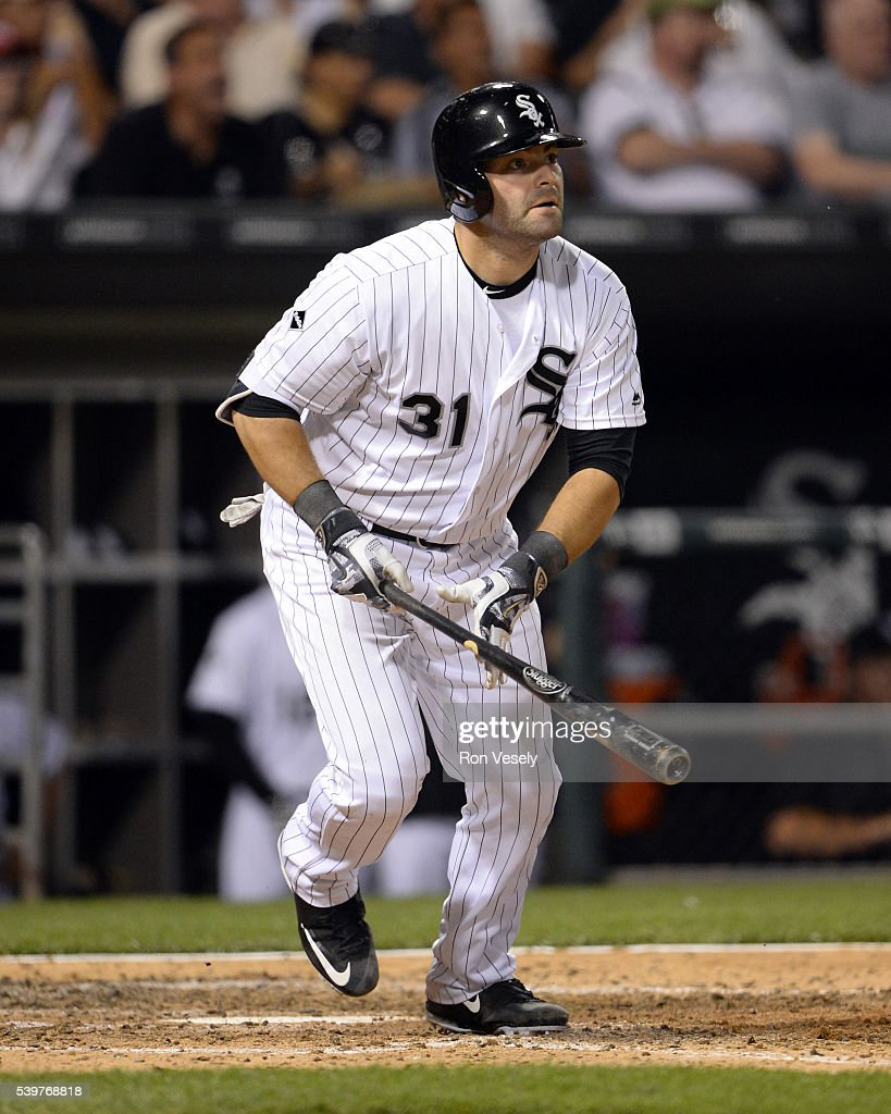 Alex Avila of the Chicago White Sox hits his second home run of the game in the sixth inning against the Kansas City Royals on June 10 2016 at US...