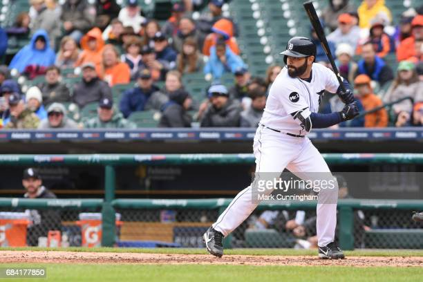 Alex Avila of the Detroit Tigers bats during the game against the Chicago White Sox at Comerica Park on April 30 2017 in Detroit Michigan The Tigers...