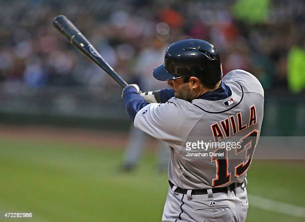 Alex Avila of the Detroit Tigers hits a solo home run in the 2nd inning against the Chicago White Sox at US Cellular Field on May 5 2015 in Chicago...