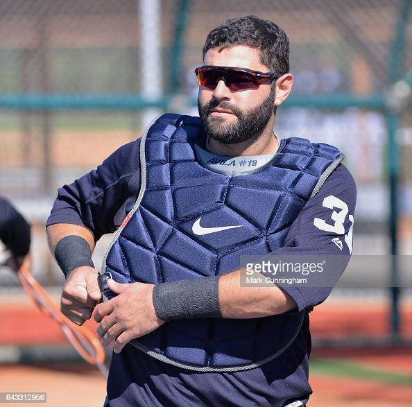 Alex Avila of the Detroit Tigers looks on during Spring Training workouts at the TigerTown complex on February 16 2017 in Lakeland Florida