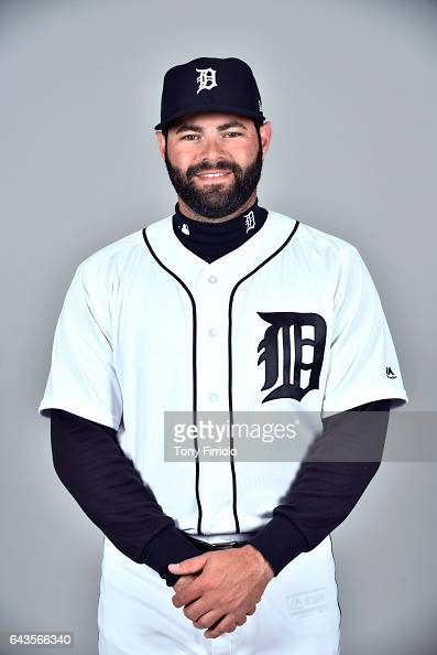 Alex Avila of the Detroit Tigers poses during Photo Day on Sunday February 19 2017 at Publix Field at Joker Marchant Stadium in Lakeland Florida