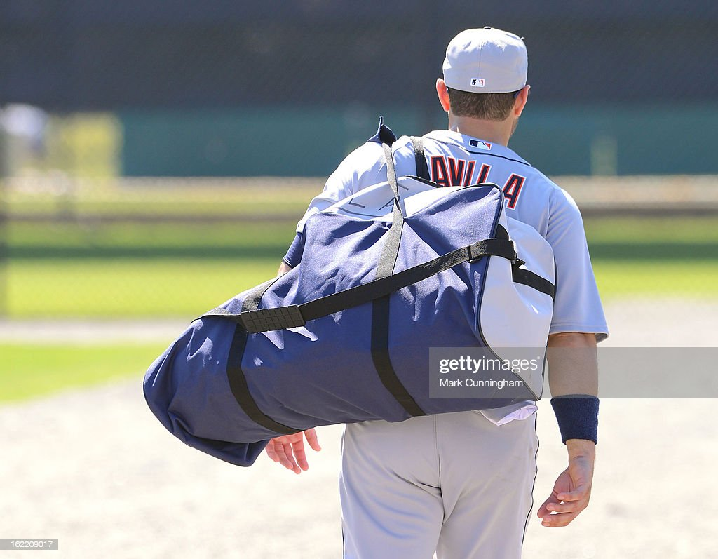 Alex Avila #13 of the Detroit Tigers walks off the field during Spring Training workouts at the TigerTown Facility on February 20, 2013 in Lakeland, Florida.