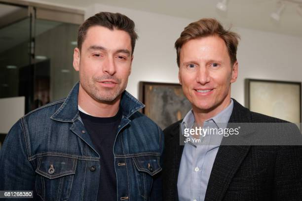 Alex Badia and guest attend 'A Magic Bus Cocktail Party' at DAG Modern on May 9 2017 in New York City