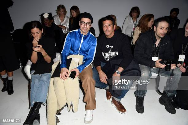 Alex Badia and publisher Dan Ragone attend the Chiara Boni La Petite Robe collection during New York Fashion Week The Shows at Gallery 3 Skylight...