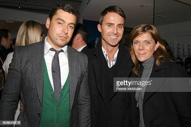 Alex Badia Anthony Todd and Julia Allenbacher attend Elite Traveler Magazine and Madison Equities present Chelsea Modern A Series of Architecturally...
