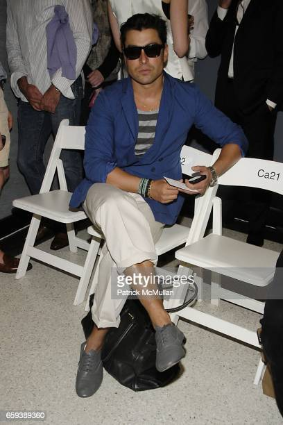 Alex Badia attends THOM BROWNE Spring/Summer 2010 at Tribeca on September 13 2009 in New York City