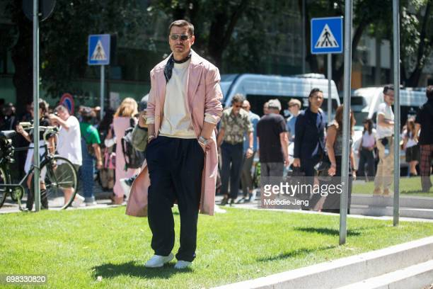 Alex Badia during Milan Men's Fashion Week Spring/Summer 2018 on June 19 2017 in Milan Italy