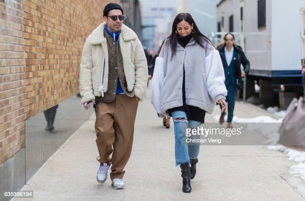 Alex Badia outside NaeeM Khan on February 14 2017 in New York City