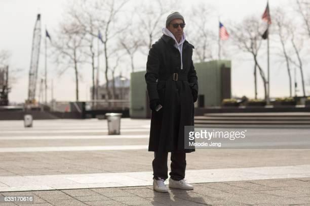 Alex Badia outside New York Men's Day at Dune Studios on January 30 2017 in New York City