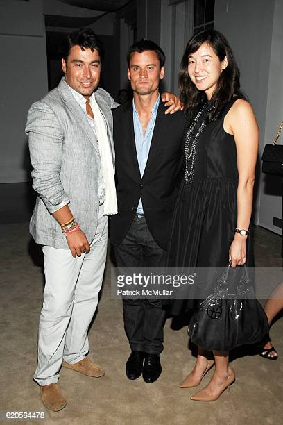 Alex Badia Ted Stafford and Jean Scheidnef attend VALENTINO TIMEPIECE LAUNCH at 620 Fifth Avenue on September 4 2008 in New York City