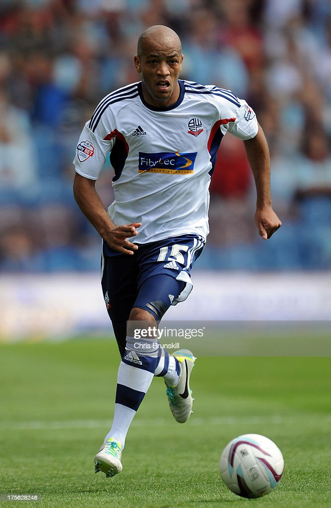 Alex Baptiste of Bolton Wanderers in action during the Sky Bet Championship match between Burnley and Bolton Wanderers at Turf Moor on August 03, 2013 in Burnley, England.