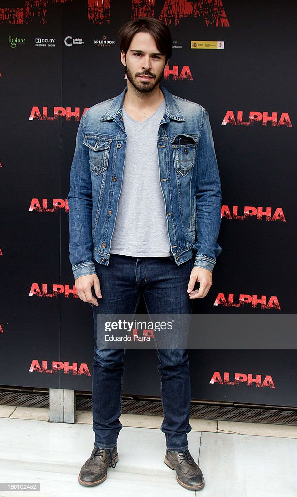 Alex Barahona attends 'Alpha' press conference photocall at Princesa cinema on October 28, 2013 in Madrid, Spain.