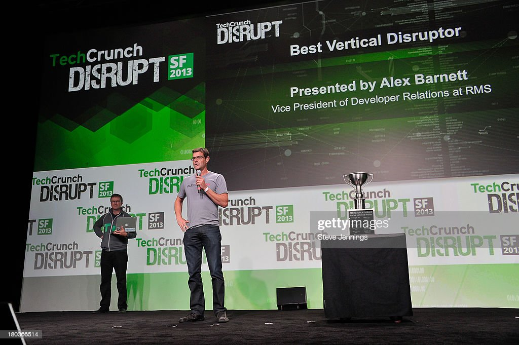 Alex Barnett of RMS awards Best Vertical Disruptor at Day 3 of TechCrunch Disrupt SF 2013 at San Francisco Design Center on September 11, 2013 in San Francisco, California.