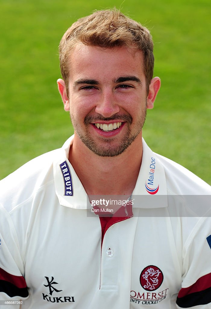 Alex Barrow of Somerset poses during the Somerset CCC Photocall at The County Ground on March 17 2015 in Taunton England