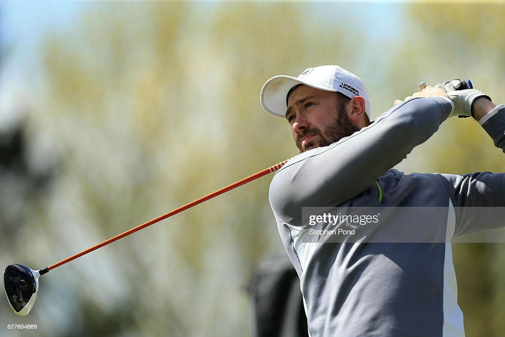 Alex Beckett of Peter Field Golf Shop during the PGA Professional Championship East Qualifier at Gog Magog Golf Club on May 3, 2016 in Cambridge, England.